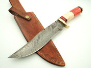 KC-820 LaBella Damascus Steel Bowie Hunting Knife DKC Knives