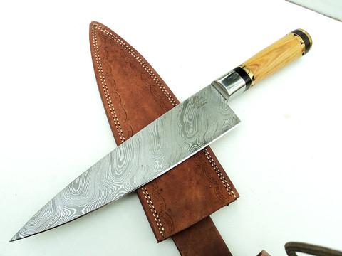 """DKC-836 Tahoe Chef Knife Damascus Steel Knife DKC Knives (TM) 15 oz 8.25"""" Blade 13.25"""" Overall"""