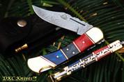"DKC-164 CANTINA 9"" Long, 3.75"" Blade 5.5"" Folded 8oz Damascus Folding Pocket Hunting Knife DKC KNIVES TM (DKC-164)"