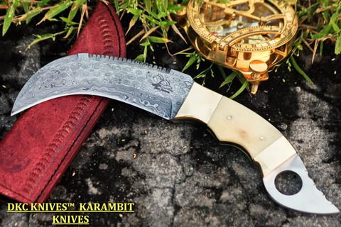 """DKC-131 HANNIBAL Karambit Damascus Steel Knife DKC Knives (TM) 14 oz 5"""" Blade 11"""" Overall (DKC-131 )"""