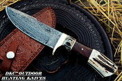 "DKC-716 Banchee Fixed Blade Knife Damascus Steel Hunting Bowie Knife 11.5 oz 10"" Long 5"" Blade (DKC-716)"