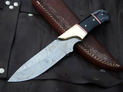 "DKC-714 BLACK WIDOW Damascus Steel Hunting Handmade Knife Fixed Blade 8.5 oz 9"" Long 4"" Blade DKC KNIVES"