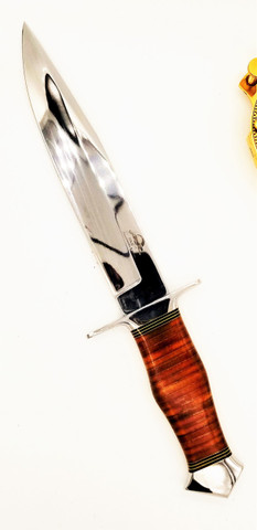 "DKC-UL-113-M Lizard Bowie Fixed Blade Hunting Loveless Style Knife Custom Hand Made 440c Steel 13.25"" Long 8.25"" Blade 13.7 oz DKC Knives Ultraline Series (DKC-UL-113-M)"