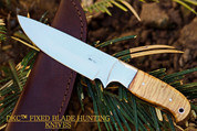 "DKC-511-440c TRAIL BLAZER Fixed Blade Stainless Steel Hunting Knife Olive Wood Burl Handle 9"" Long, 5.5"" Blade 8oz DKC Knives"