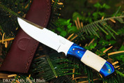 "DKC-521-440c BLUE MOON 440c Stainless Steel Hunting Handmade Knife Fixed Blade 7 oz 9"" Long"