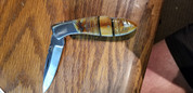 "DKC-58-LJ-EH-440c LITTLE JAY Chief Handle Pocket Clip   Folding Pocket Knife 4"" Folded 7"" Approx 3.25""Blade a Long 4.7oz oz"