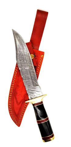 "DKC-816-DS BLACK BANDIT Damascus Steel Bowie Hunting Knife DKC Knives 16 oz 12.5"" Long 8"" Blade Nomano Series"
