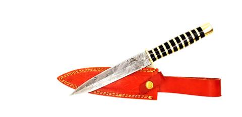 """DKC-6012-DS JOKER Dagger Damascus Steel Hunting Knife DKC Knives 11oz 11.25"""" Long 6.5"""" Blade Nomano Series"""