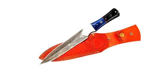 "DKC-6013-DS JEDI Dagger Damascus Steel Hunting Knife DKC Knives 14.5 oz 13.5"" Long"" Blade Nomano Series"