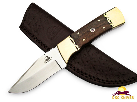 """DKC-523-440c GOLD FINCH 440c Stainless Steel   Bowie Hunting Handmade Knife Fixed Blade 9.3oz oz 3.5"""" Blade 8 """"Long"""