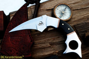 "DKC-132-440c LUCIFER Karimbit 440c Stainless  Steel Knife 7"" Overall 3.5"" Blade 7.4 oz"
