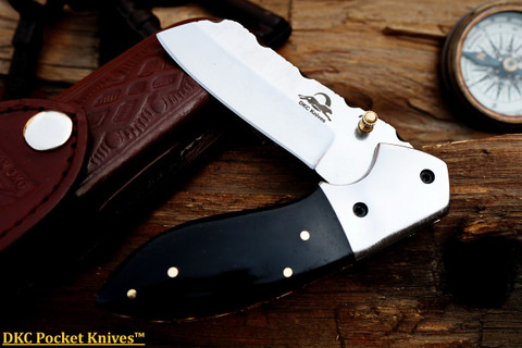 "DKC-811-440c Excalibur Stainless Steel Folding Pocket Knife 4.5"" Folded 7.5"" Open 3.5"" Blade 8oz High"