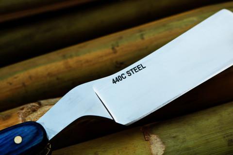 """DKC-521-RZ-440c Blue Moon Barber Razor 440c Stainless Steel 6"""" Long 3"""" Blade 2.5 oz"""