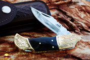 """DKC Knives DKC-527-440c Black Wolf 440c Stainless Steel Folding Pocket Knife 4.5"""" Folded 7.5"""" Long 3"""""""