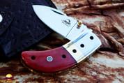 """DKC Knives DKC-43-RD-440c RED Thumb 440c Stainless Steel Folding Pocket Knife 3.5"""" Folded 6.25"""" Long 2.25"""" Blade 7.25 oz"""