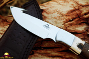 "DKC-964-440c YITZA Gut Hook Skinner 440c Stainless Steel Knife 8.5"" Overall 4."" Blade 9.5 oz Hand Made"