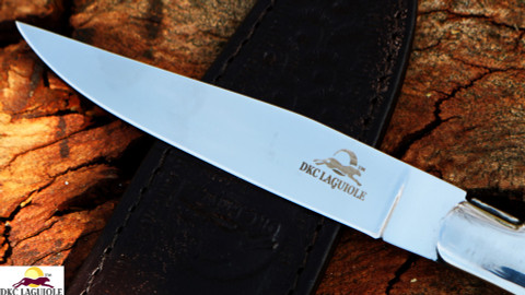 DKC-699-ST-SH-440c Laguiole Steak Knife Stag Horn Handle 440c Stainless Blade (DKC-699-ST-SH-440c)