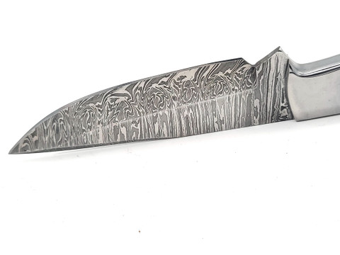 "DKC-511-PL-DS TRAIL BLAZER Fixed Blade Damascus Steel Hunting Knife Plantanus Wood Handle 9"" Long, 5.5"" Blade 8oz"