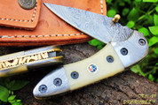 "DKC-29 STING Damascus Folding Pocket Knife 7""Long, 4"" Folded 6oz"