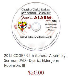 95 GA: Sound the Alarm - Robinson (DVD)