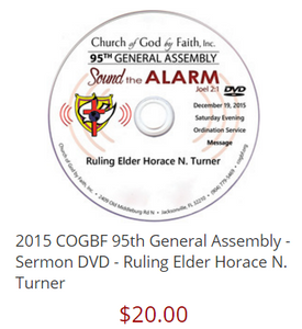 95 GA: Sound the Alarm - Turner (DVD)