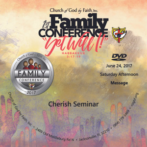 2017 Family Conference: Cherish seminar (DVD)