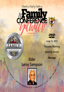 2017 Family Conference:  Elder Leroy Sampson (DVD)