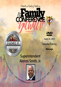 2017 Family Conference:  Supt. Alonzo Smith (DVD)