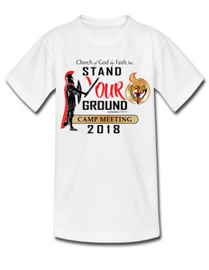 2018 Camp Meeting:  Stand your Ground - Tshirt
