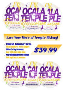 Ocala Temple Re-dedication (DVDs + Booklet + Program Book)
