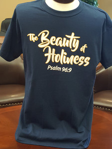 Beauty of Holiness T-shirt (Navy Blue)