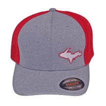 U.P. Map Ball Cap - Gray/Red
