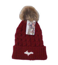 U.P. Winter Hat - Crimson/Stone
