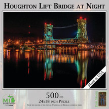 Houghton Lift Bridge at Night Puzzle