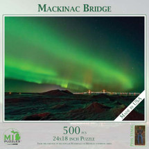 Mackinac Bridge Northern Lights Puzzle