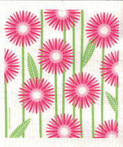 Pink Daisies Swedish Dishcloth - CN218.89