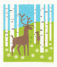 Deer in Birch Swedish Dish Cloth