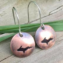 Copper U.P. Earrings