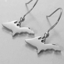 U.P. Outline Earrings - Stainless