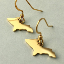 U.P. Outline Earrings - Gold