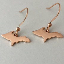 U.P. Outline Earrings - Rose Gold
