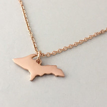U.P. Outline Pendant - Rose Gold