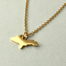 U.P. Outline Pendant - Gold