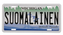 Suomalainen Michigan License Plate