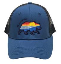 ROAMER: Keweenaw Sunset Seaway Bear Ball Cap - Sapphire/Black