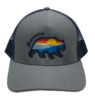 RYDER: Keweenaw Sunset Seaway Bear Ball Cap - Heather/Navy