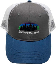 ROAMER: Keweenaw Northern Lights Ball Cap - Charcoal/Sapphire/White