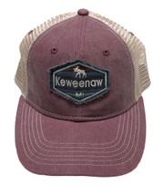 SCOUT: Keweenaw MI Ball Cap - Maroon/Khaki