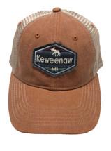 SCOUT: Keweenaw MI Ball Cap - Adobe/Khaki