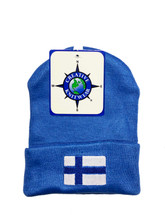 Newborn Finnish Flag Hat Blue